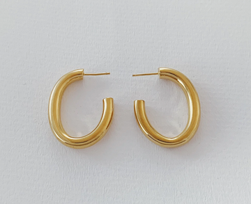 Big Hoops Oval in Gold