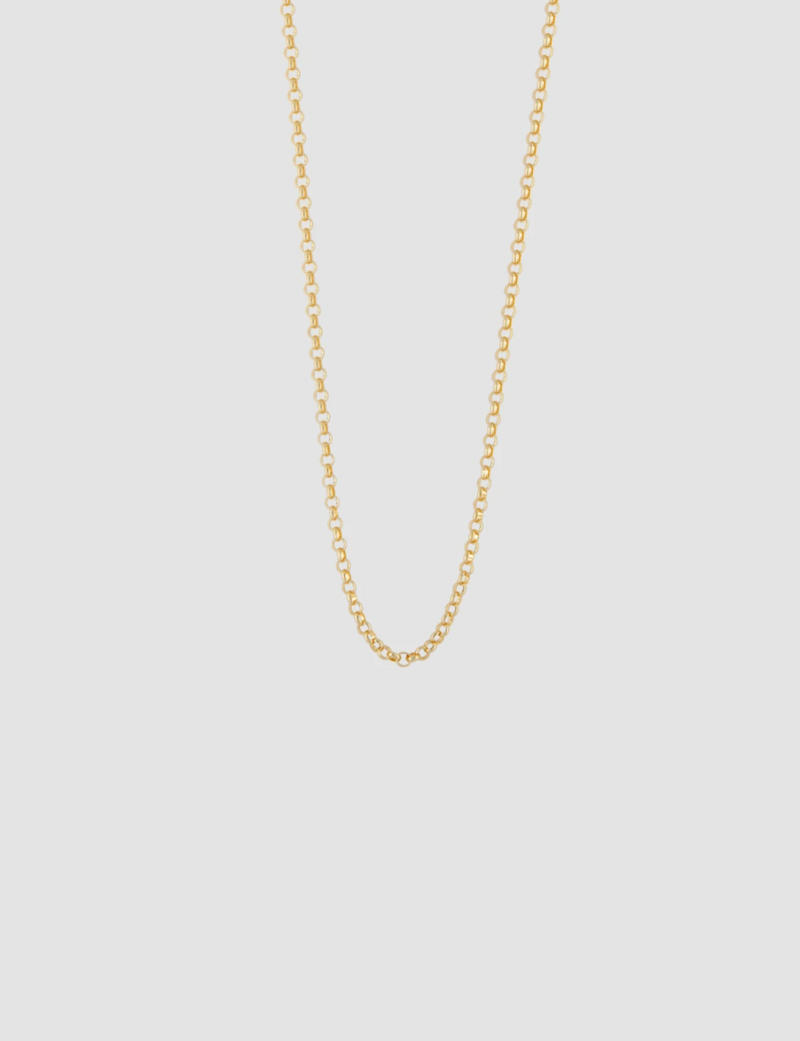 Small Cable Necklace in Gold