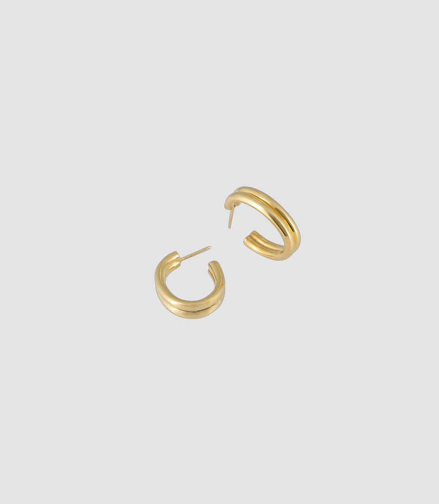 Double Oval Hoops in Gold