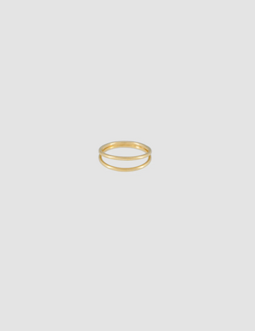 Simple Ring Double in Gold