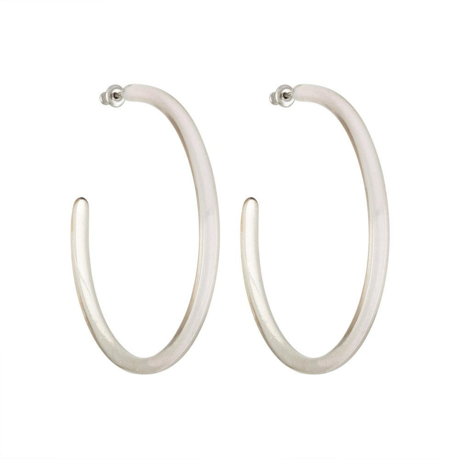 Large Hoops in Clear