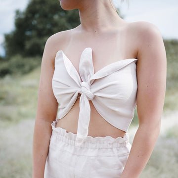 Helia Bandeau Top in Blush