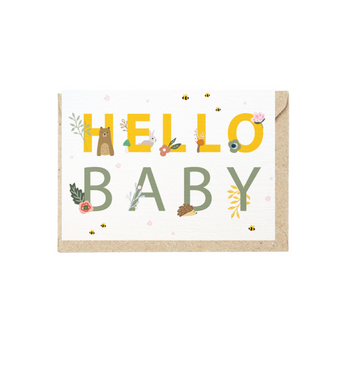 Greeting Card Hello Baby