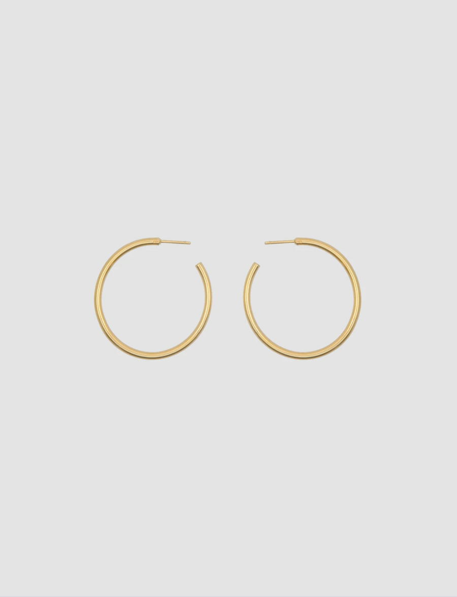Hoop Earrings 3.5 in Gold