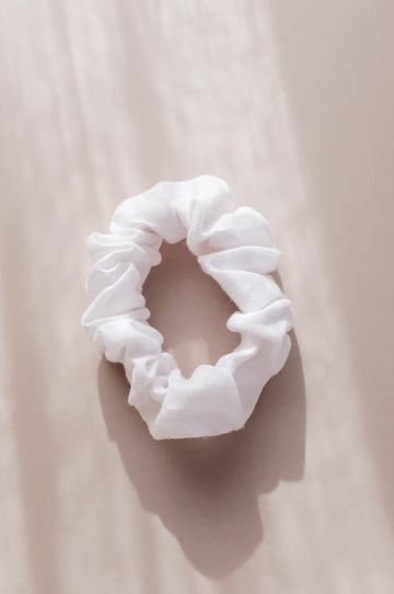 White Linen Scrunchie