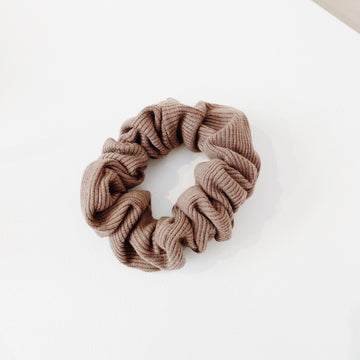 Cacao Cotton Scrunchie