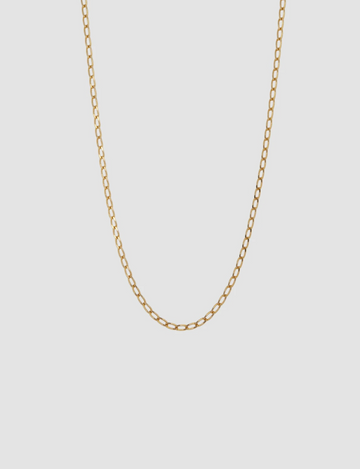 Small Oval Necklace in Gold
