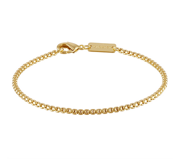 Round Box Chain Bracelet in 14k Gold