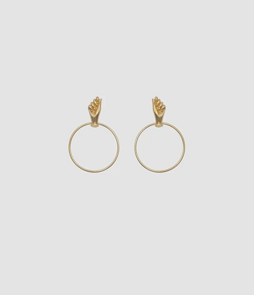 The Hand Earrings in Gold
