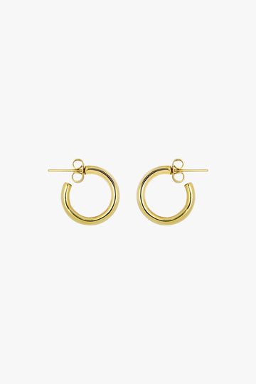 Simple Hoop Earrings in Gold