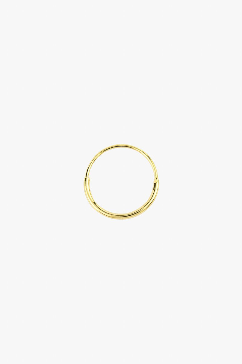 Hoop Earring With Detail in Gold