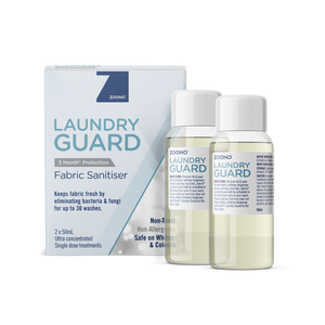 Laundry Guard Fabric Sanitiser | 2x50mL Treatments - Zoono