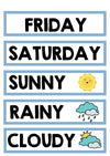 BLUE DAYS OF THE WEEK & WEATHER CARDS