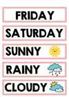 DAYS OF THE WEEK & WEATHER CARDS
