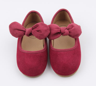 Winter Berry Suede Bow MJ's
