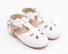 Vintage White Leather Sandals