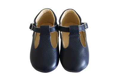 Nelly Navy T-Bar Moccasins