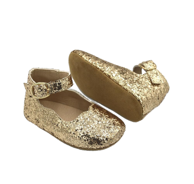 Gold Glitter Mary Janes