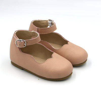 Dusty Pink Leather Mary Janes