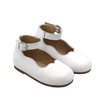 White Leather Mary Janes