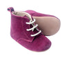Winter Berry Suede Lace Up Bootie