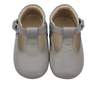 Georgie Grey T-Bar Moccasins