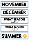 BLUE MONTHS & SEASON CARDS