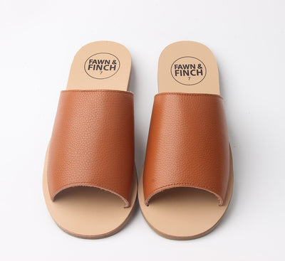 Tan Leather Mummy Slide's