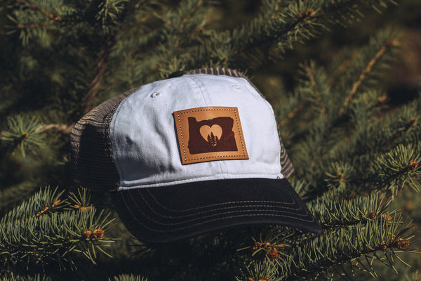 Oregon Heart w/ Trees Hat