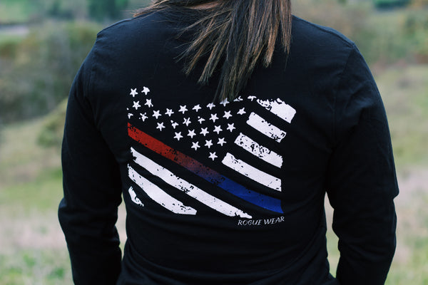 Long Sleeve Flag Shirt