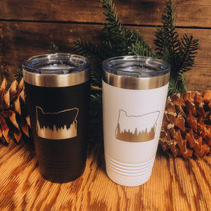Oregon w Trees Tumbler