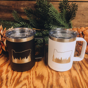 Oregon w Trees Coffee Mug