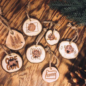 Wood Round Ornament