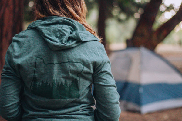 Oregon Outline Zip Up