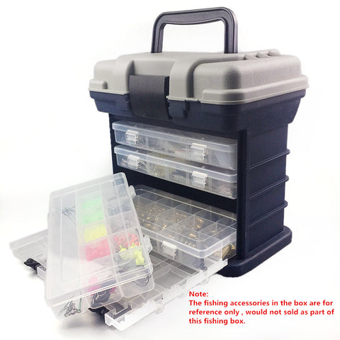 5e676fd51ce0 27 17 26cm 5 Layer PP+ABS Big Fishing Tackle Box High Quality