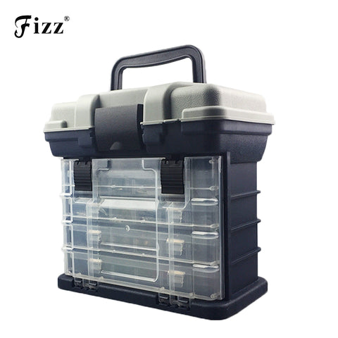 a2a71d5e820a Professional 4 Layers Handheld Fishing Case High Strength ABS Plastic Fishing  Accessories Tackle Tool Box 27x17x26cm