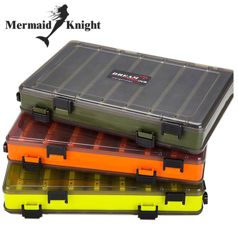 8fceb860935e Fishing Lure Box Double Sided Tackle Box Fishing Lure Egi Squid Jig Pesca  Accessories Box Minnows