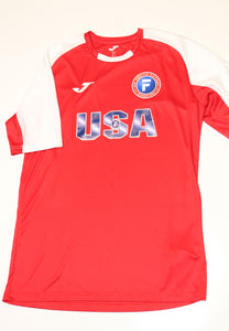 U.S. Youth Futsal National Team Jersey - Red and White.