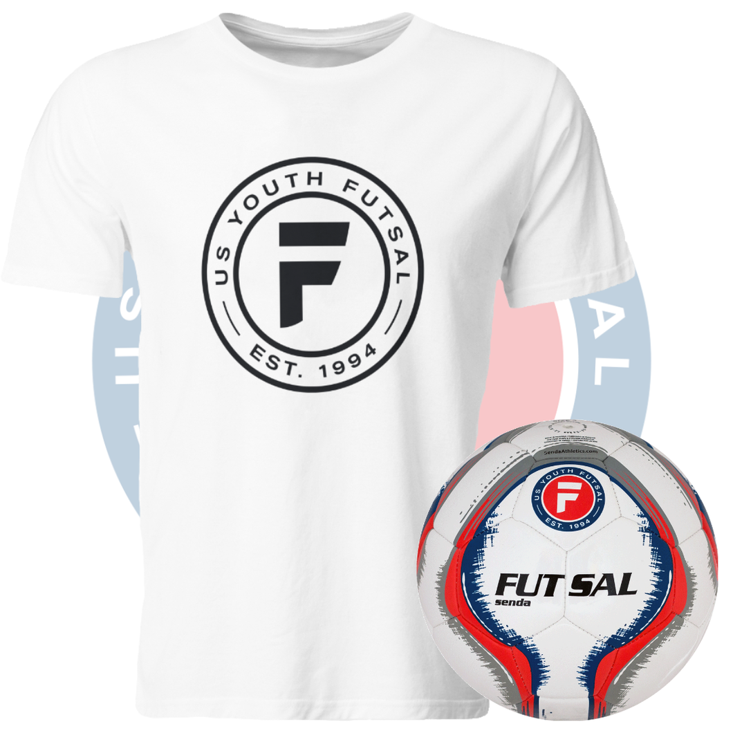 2019-20 U.S. Youth Futsal Tshirt and Senda Futsal Ball Combo