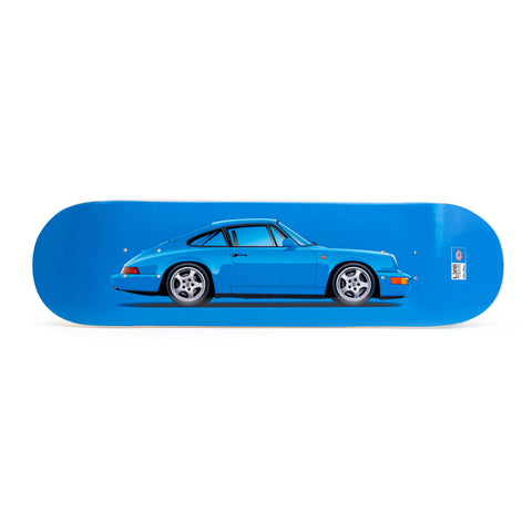 Porsche 964 Carrera RS Skateboard Art Deck - Maritime Blue