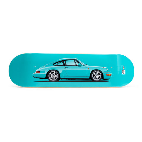 Porsche 964 Carrera RS Skateboard Art Deck - Mint Green