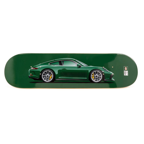 Porsche 991 GT3 Touring Skateboard Art Deck - Irish Green