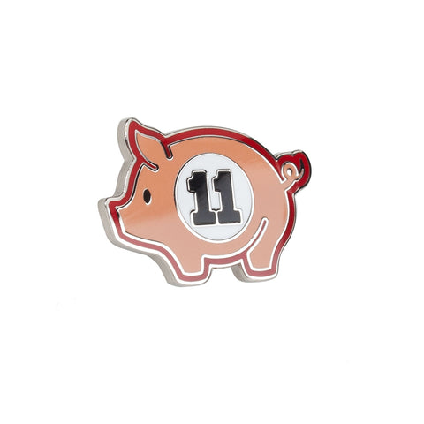 Swine Eleven Pig Hard Enamel Hat Pin