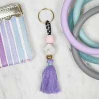 Purple Fringe Beaded Tassel