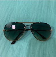 Black/Gold Aviator Sunglasses