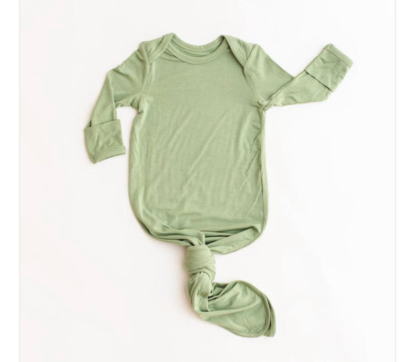 Infant Knoted Gown - Sage