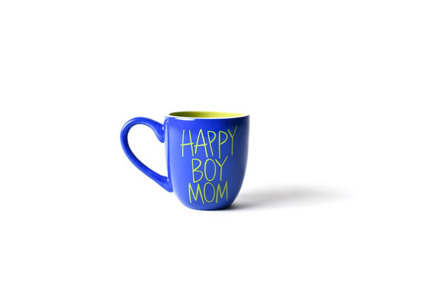 Cobalt Happy Boy Mom Mug