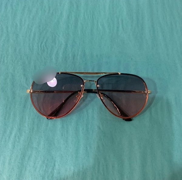Gold/Pink Aviator Sunglasses