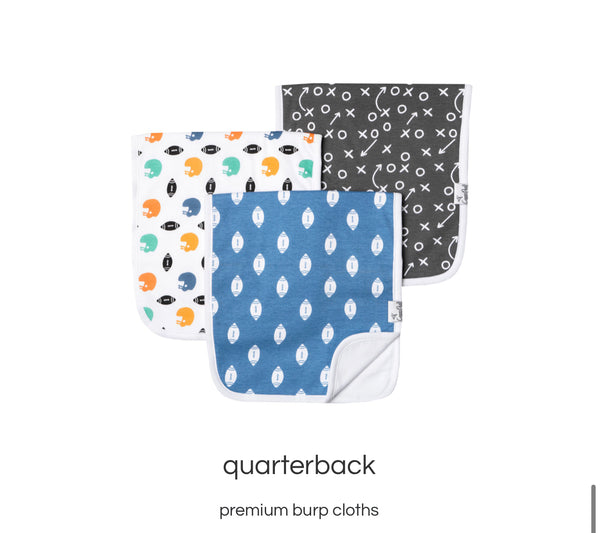 Premium burp cloths - Quarterback