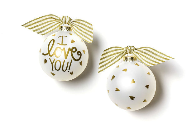 I Love You Glass Ornament
